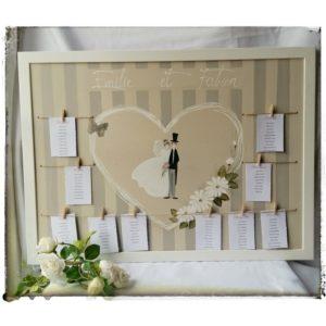 Plan de Table romantique Les Mariés