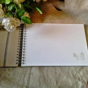 Pages supplémentaires pour, livre d'or ou album photo, pages blanches légèrement glacées