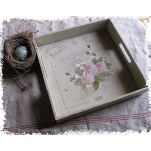 plateau bouquet de rose